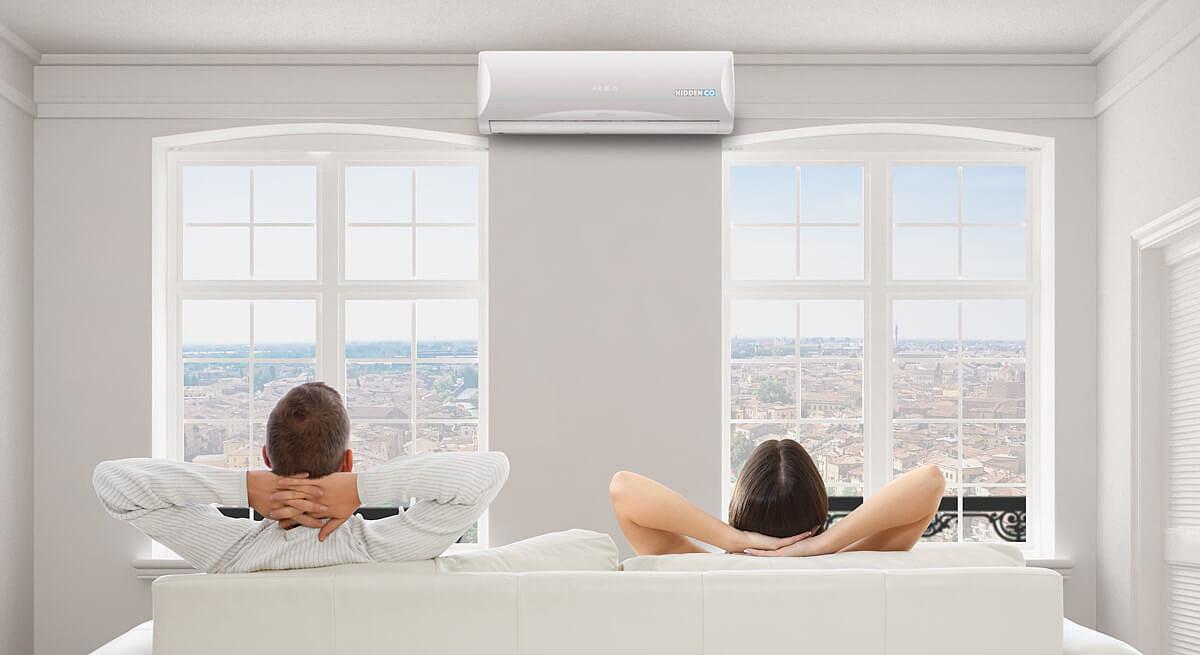 il confort dei condizionatori Hiddenco è tutto l'anno